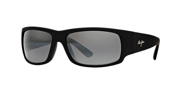 Maui Jim World Cup Black Matte Rectangle Sunglasses 603429025519