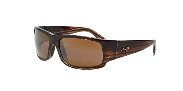Maui Jim 266 World Cup Brown Rectangle Sunglasses 603429025526
