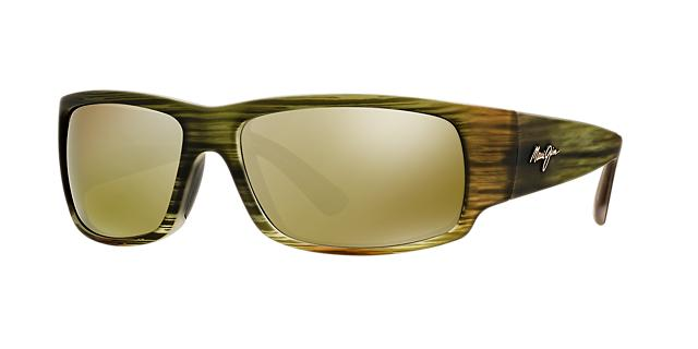 Maui Jim World Cup Green Rectangle Sunglasses, Polarized 603429025540