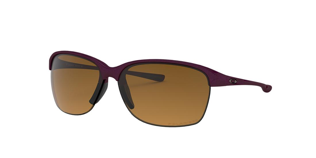 Click here for Oakley Womens Unstoppable Purple Wrap Sunglasses -... prices