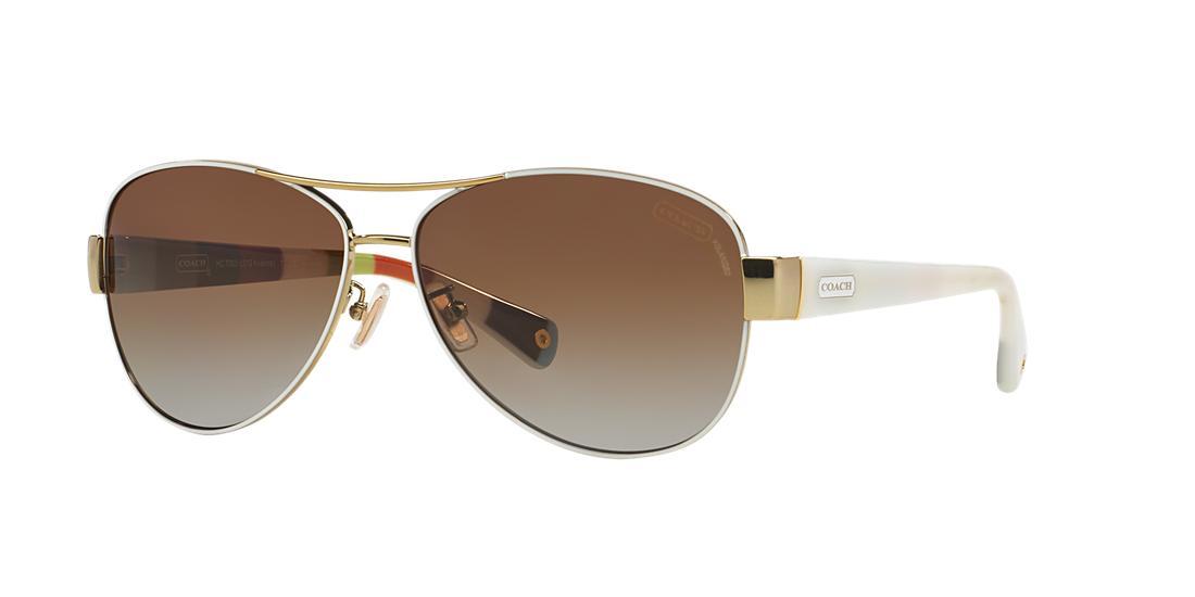 799626268dbe ... italy 158.00 more details coach kristina white aviator sunglasses hc7003  44cf9 3651a