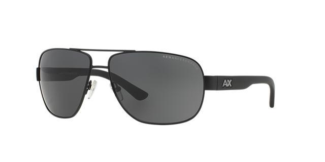 Image of Armani Exchange Black Aviator Sunglasses - ax2012s