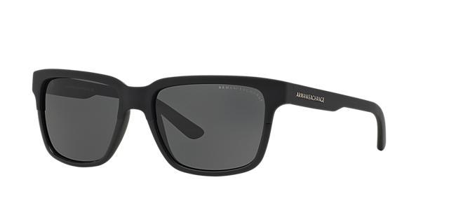 Image of Armani Exchange Black Matte Square Sunglasses - ax4026s