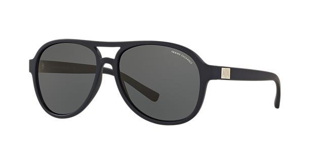 Image of Armani Exchange Blue Aviator Sunglasses - ax4055s