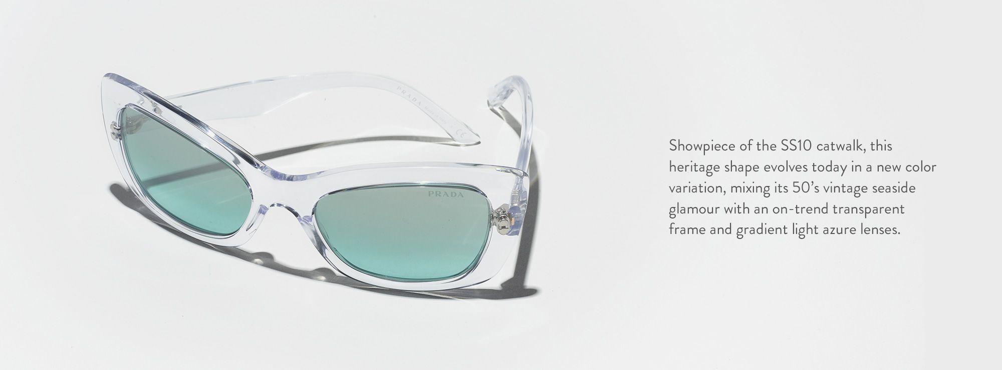 cd51606899 Prada PR19MS 56 Blue   Transparent Sunglasses