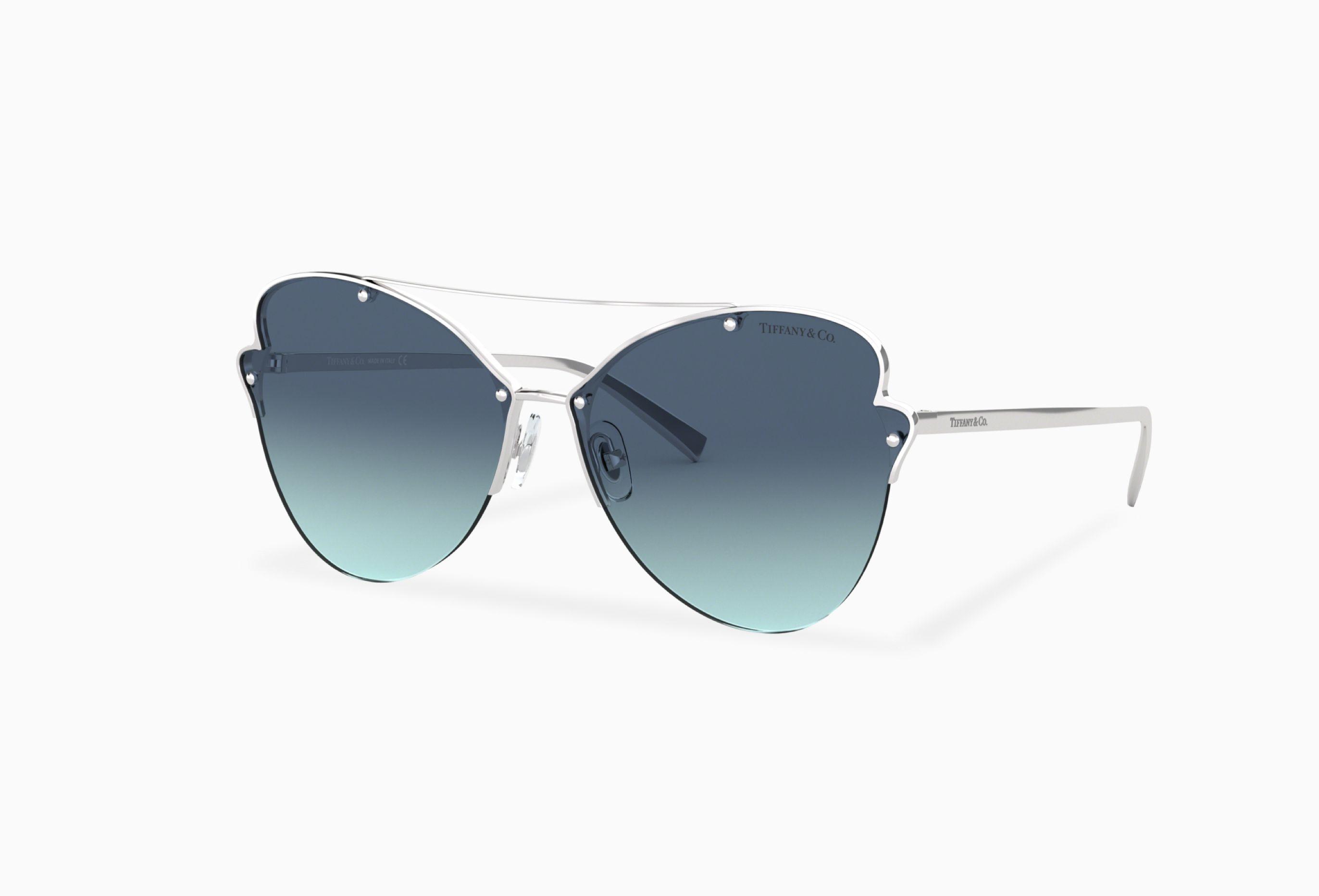 a2833e55b6 Tiffany TF3063 64 Blue   Silver Sunglasses